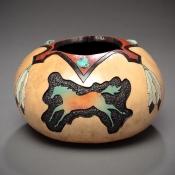 Western Gourd Art by Marilyn Sunderland